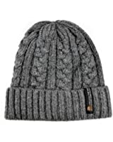 Yamimi Men's Oversize Cuff Cable Knit Beanie