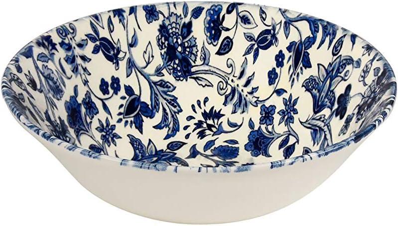 Set di 4 ciotole per farina davena bianca Queens Blue Story Victorian Calico
