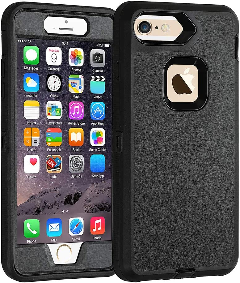 Co-Goldguard Case for iPhone 6s Plus/6 Plus Heavy Duty 3 in1 Built-in Screen Protector Cover Dust-Proof Shockproof Scratch Resistant Shell Compatible with Apple iPhone 6s+/6+ Black