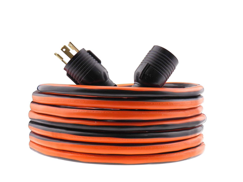 MPI Tools Nema L5-30 Generator Power Cord 3 Wire 10 Gauge 125v 30 Amp 1 (15 FT Whip)