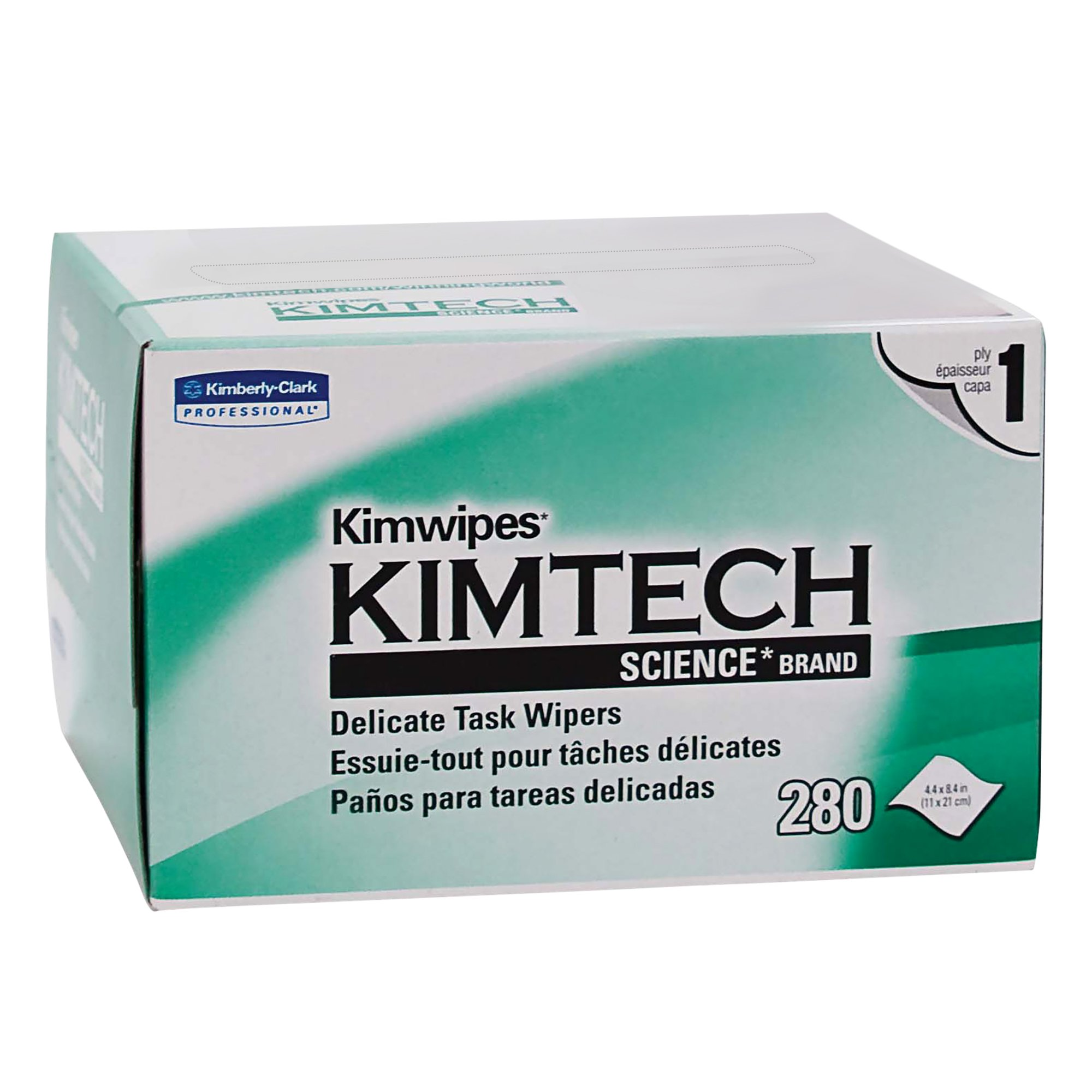 Kimwipes Delicate Task Kimtech Science Wipers (34155), White, 1-PLY, 60 Pop-Up Boxes/Case, 280 Sheets/Box, 16,800 Sheets/Case by Kimberly-Clark Professional