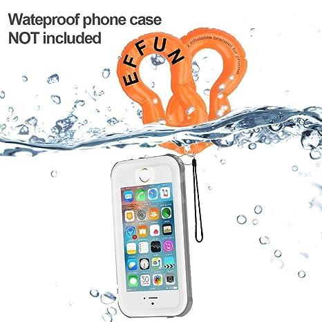 Resistente al agua hinchable flotador para cámara/teléfono correa (lote de 2),