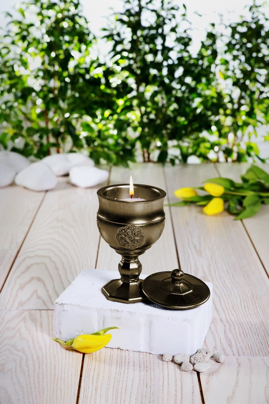 Warm Feather Scent Candellana Candles Candlefort Concrete Candle Graal Brass