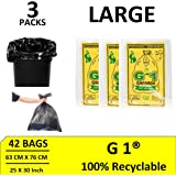G1 Garbage Bags And Covers Large Size Black Color 25 X 30 Inch Pack Of 3 42 Pieces