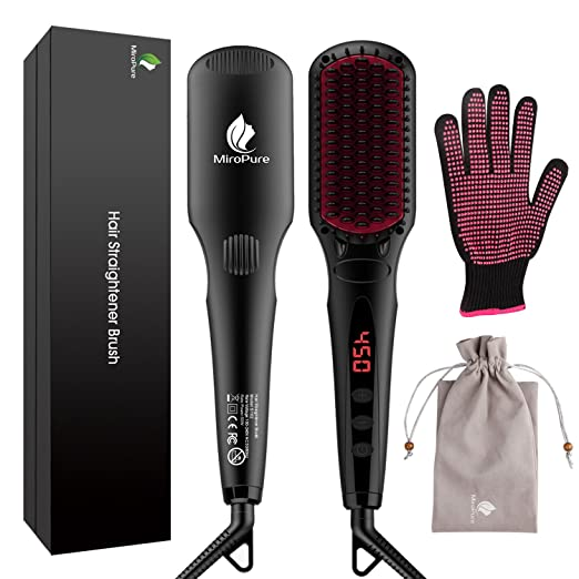 MiroPure 2 in 1 Ionic Hair Straightener Brush