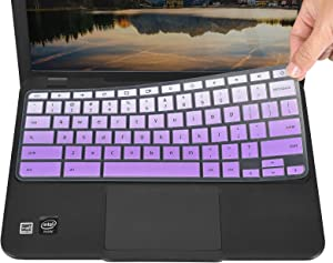Keyboard Cover for Acer Chromebook R11 CB5-132T, Chromebook 14 CB3-431, Chromebook 514 CB514, Chromebook CB3-532, Chromebook R 13 CB5-312T, Chromebook Spin 311 CP311 CP315 CP713 - Gradual Purple