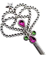 Silver Fairy Wand - Stone Embellished Fairy Wand In Silver