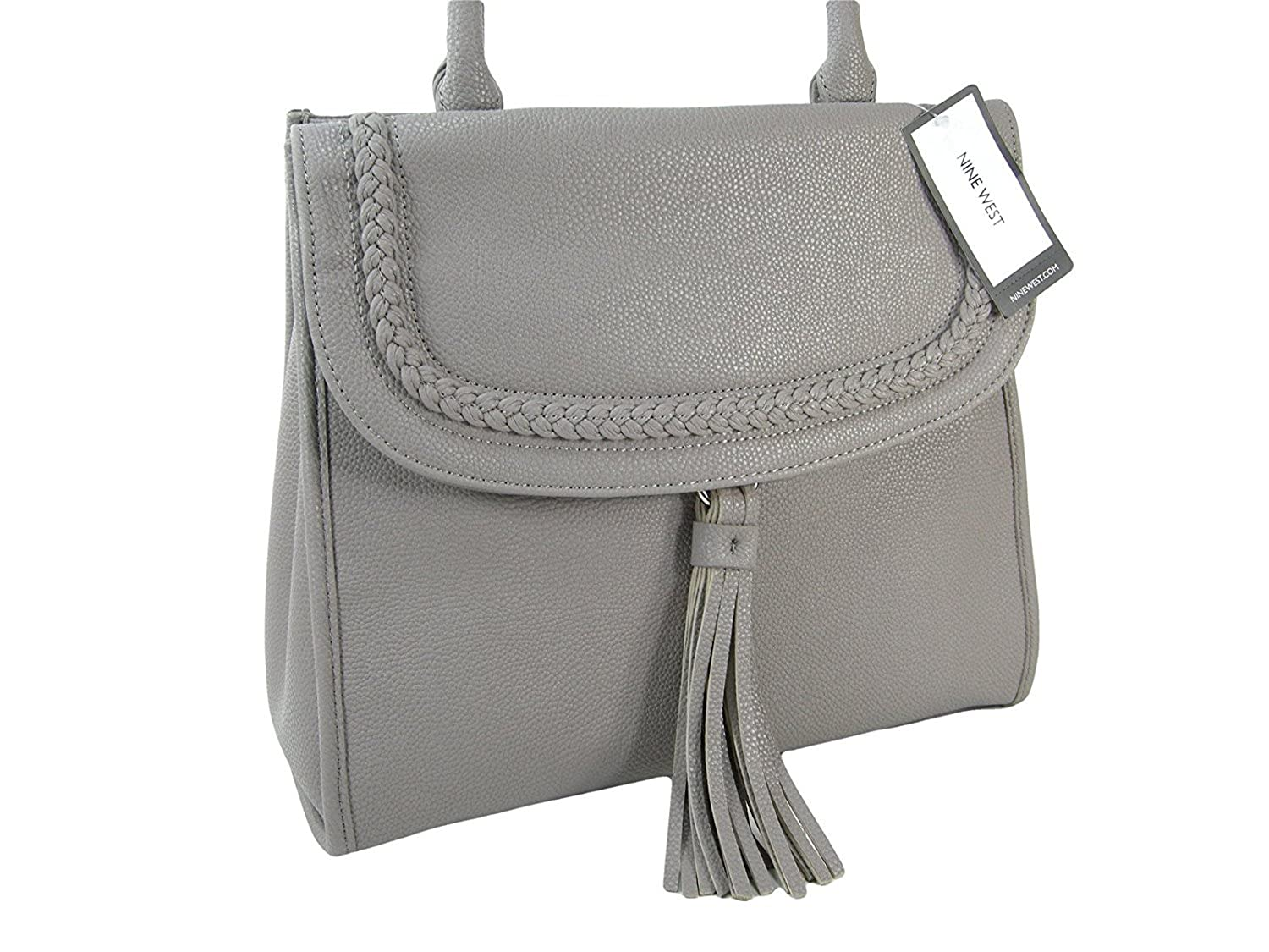 766871ddb79a New Nine West Logo Purse Crossbody Hand Bag   Matching Wristlet 2 Piece Set  Gray  Handbags  Amazon.com