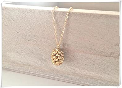 Amazon Gold Necklace Pine Cone Dainty