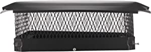 Draft King CBC2020 Black Bolt On Galvanized Steel Single Flue Chimney Cap for Use in California and Oregon