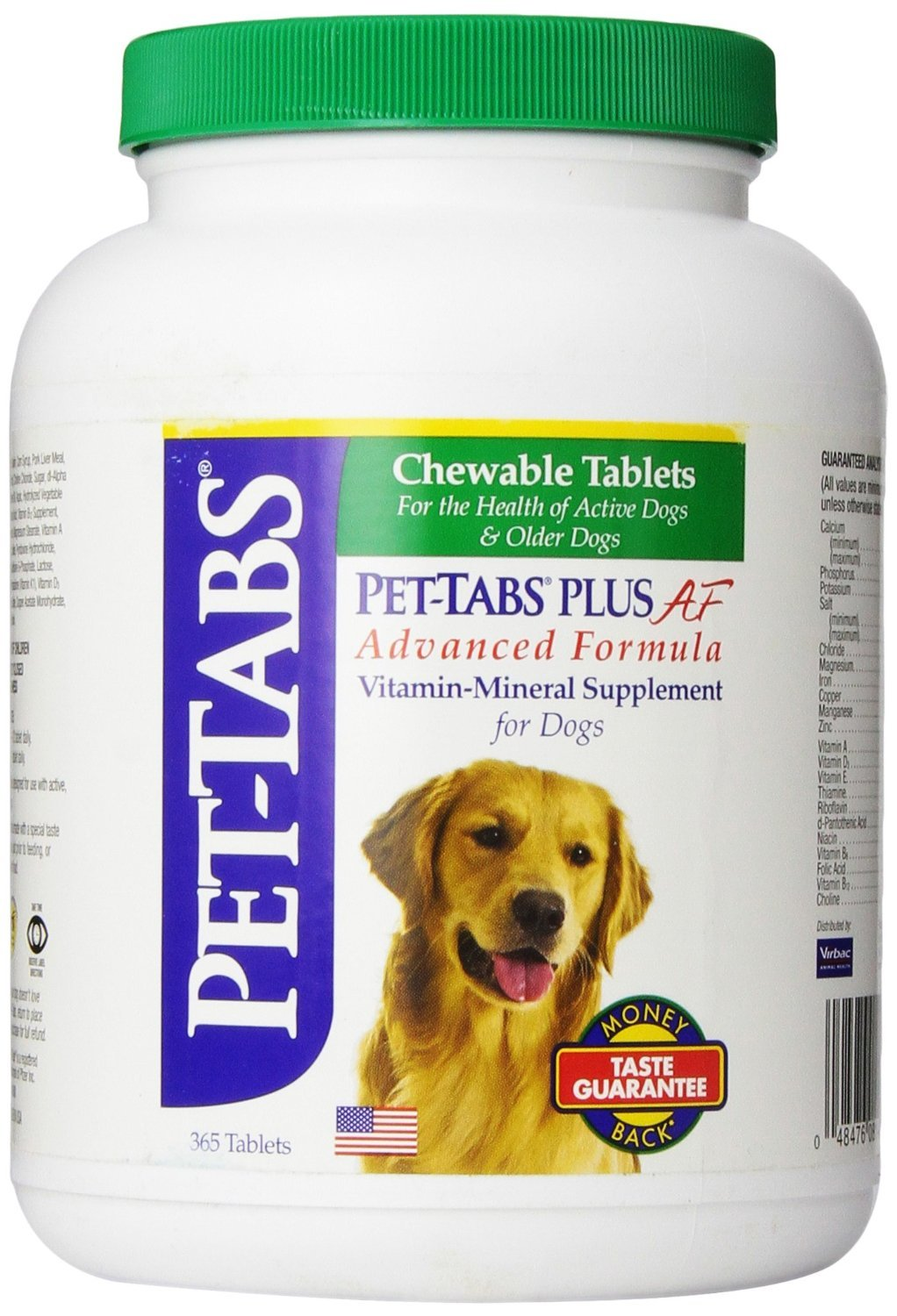 Pet-Tabs Plus For Dogs - 365 Tabs