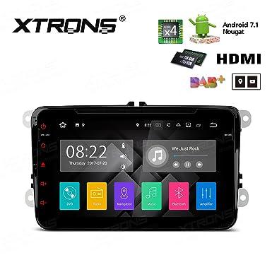 XTRONS HDMI Android 7.1 Quad Core 8 Inch HD Digital pantalla táctil Radio estéreo de coche