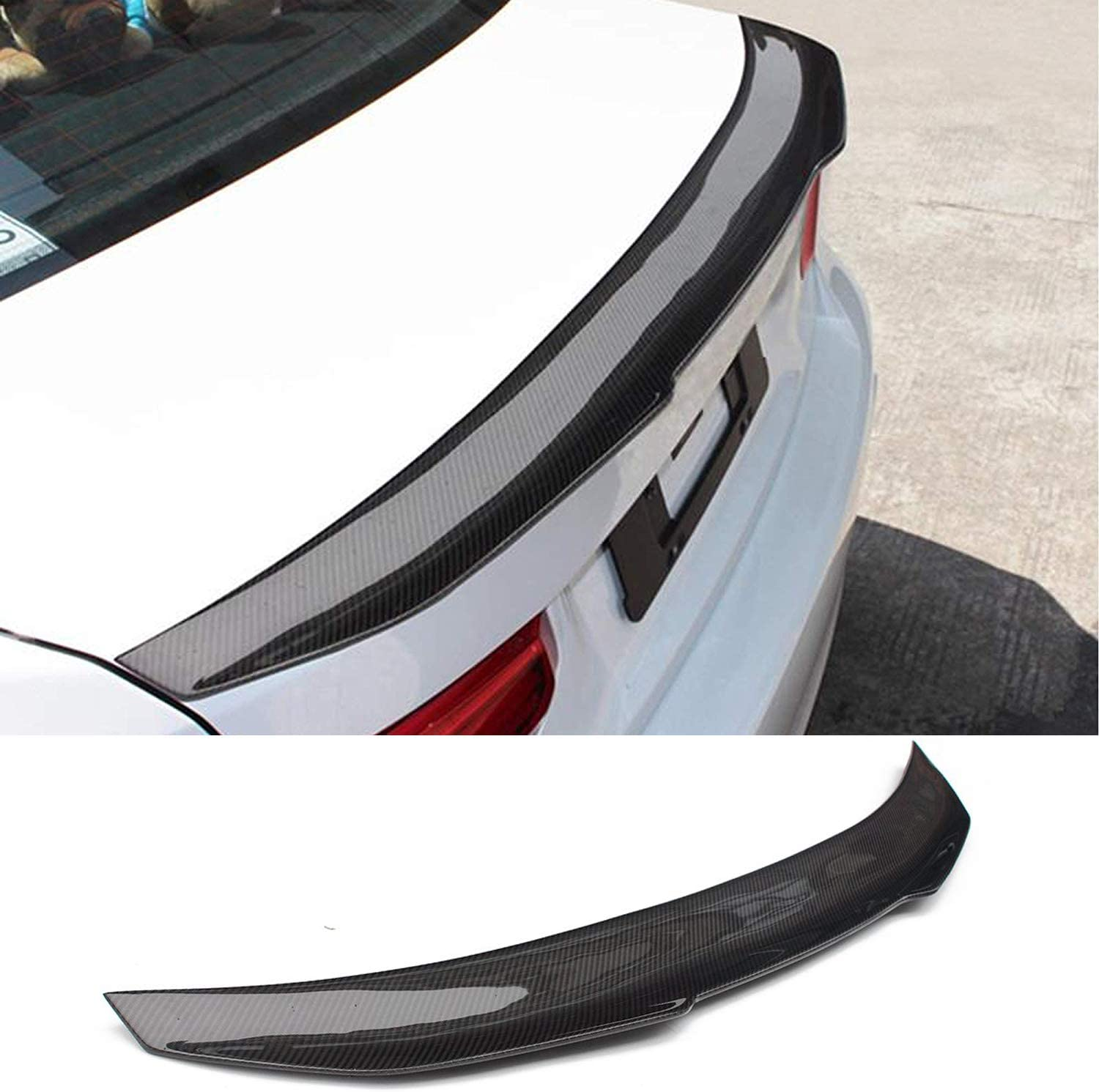 Fandixin F32 Spoiler Carbon Fiber M4 Style Rear Trunk Deck Lip Boot Spoiler Wing for BMW 4 Series F32 418i 420i 430i 435i 440i