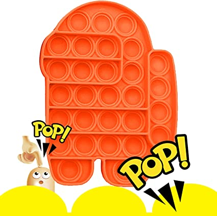 Autism Special Needs Figetget Toy for ADHD Anxiety /& Stress Relief Gifts Green Push Pop Pop Popping Bubble Popit Popitz Fidget Sensory Toy Among Amoung Us It Game for Boys and Girls