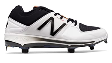 brand new 4ec34 2a922 New Balance Men s L3000v3 Low Metal Cleats White Black ...