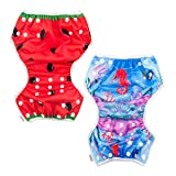 ALVABABY Swim Diapers 2pcs Reuseable Washable for