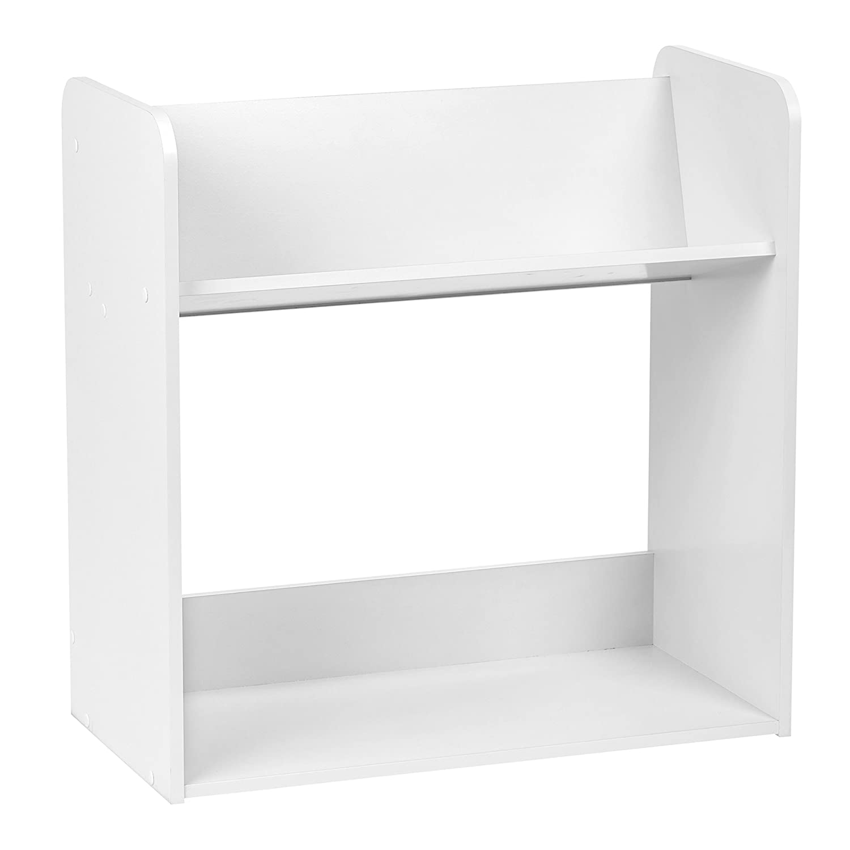 IRIS 2-Tier Tilted Shelf Book Rack, White