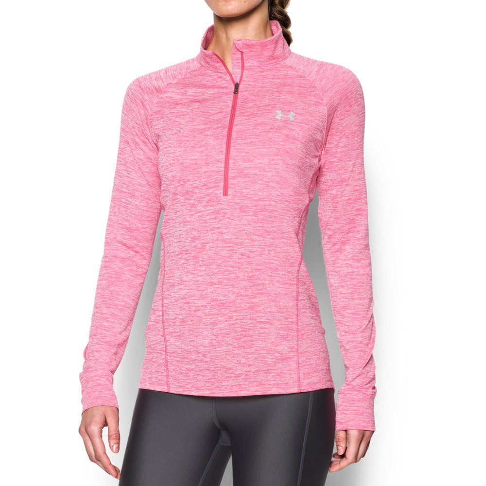 Under Armour Women's Tech 1/2 Zip Twist, Pink Sky/Knock Out, X-Small
