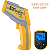 Tacklife IT-T05 Professional Dual Laser Infrared Thermometer -58°F~ 1022°F Digital Temperature Gun with Temperature Alarm Adjustable EMS DIF/MAX/MIN/AVG Measurements - Ideal Father's Day Gift