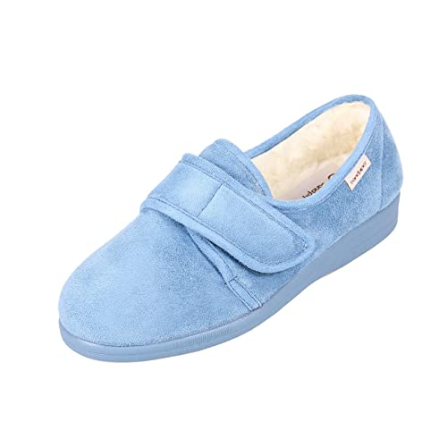 20a6115da433 Sandpiper Sally Ladies Slippers - 4E-6E Extra Wide Fitting  Amazon.co.uk   Shoes   Bags
