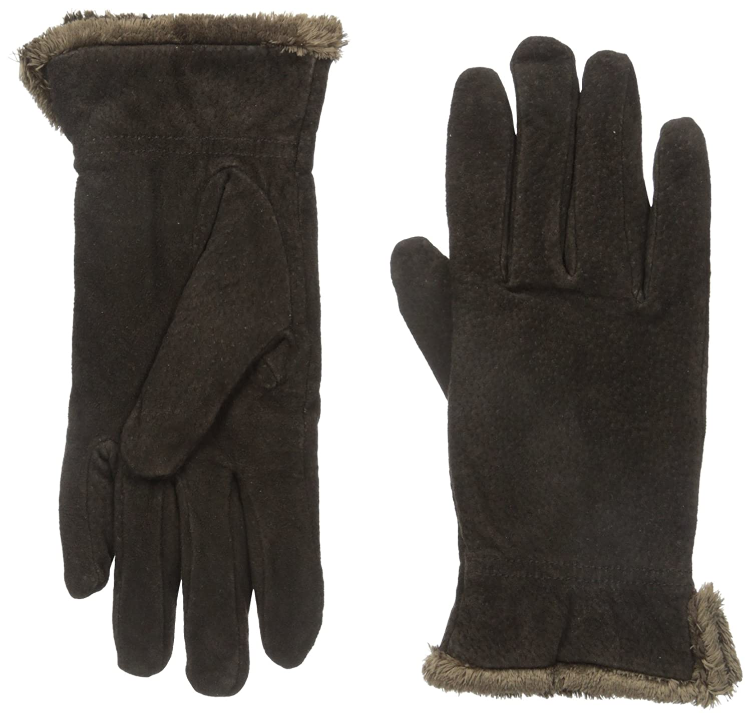 Isotoner Women's Suede Gloves with Gathered Wrist Totes Women's Accessories 40036