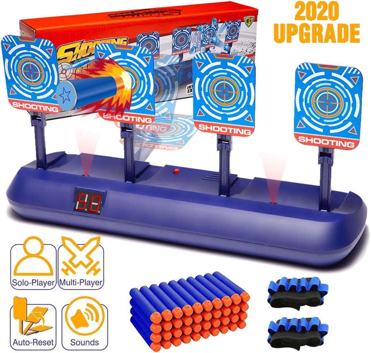 Snorain Gun Targets, Electronic Scoring Auto Reset Shooting Digital Target for Nerf Guns Toys , Ideal Christmas Gift Toy for Kids, Teens, Boys & Girls