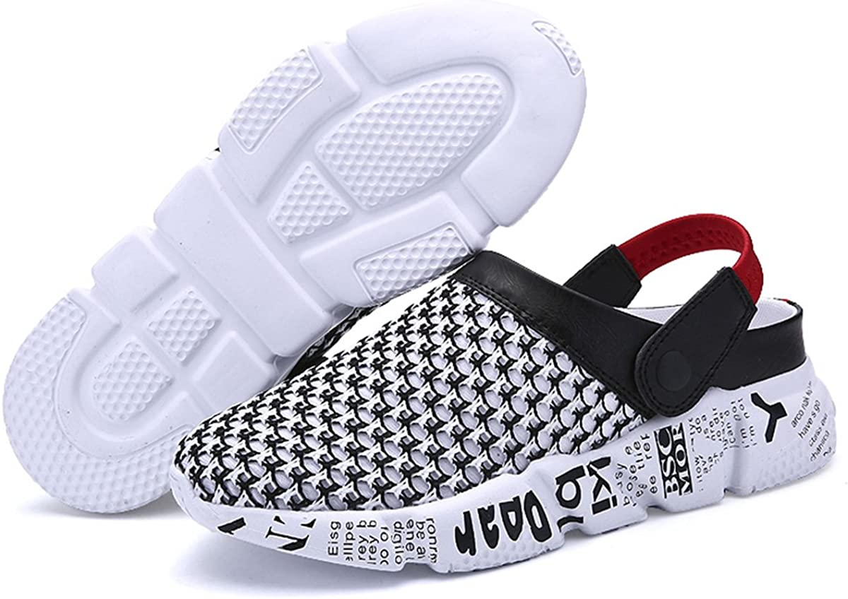 Mageed Men Sandals Summer Breathable Air Mesh Lighted Slippers Outdoor Beach Shoes Leisure Slippers