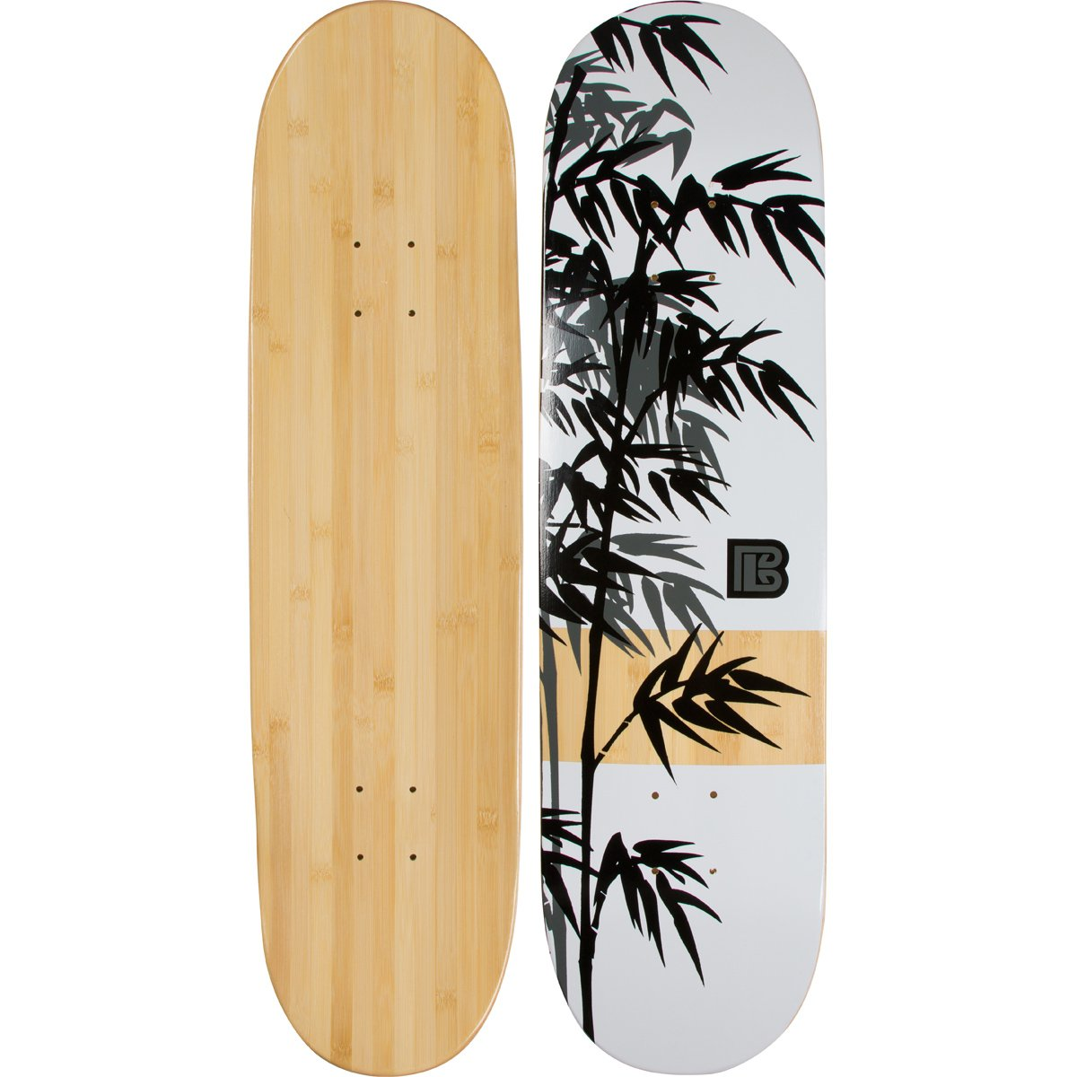 Amazon.com : Bamboo Skateboards Moso Graphic Skateboard Deck with a ...