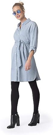Seraphine Women S Light Chambray Belted Maternity Shirt Dress At Amazon Women S Clothing Store