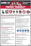 "NMC PST141C""Protect Yourself!"" Illness Prevention Poster, Vinyl, 18"" x 12"""