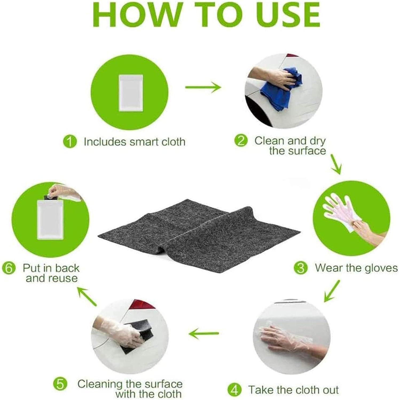 Car Paint Scratch Repair Cloth Nanomagic Cloth Scratch Remover Nano Magic Cloth Multipurpose Car Scuffs Repair Kit for Repairing Scratches and Surface Polishing
