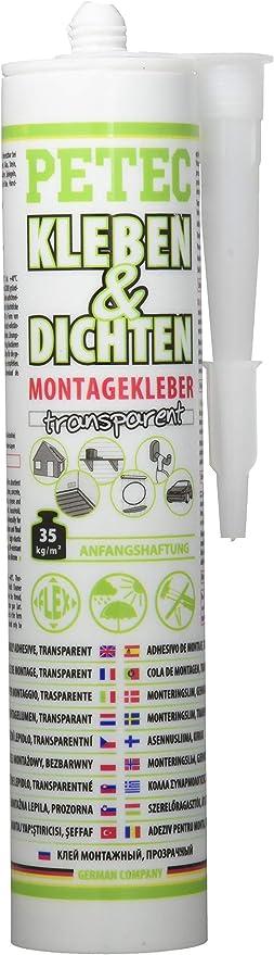 Petec 94929 Ecoline Montagekleber Transparent Auto