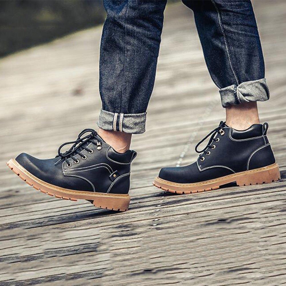 SUNNY Herren Trend Martin Stiefel britischen Stil koreanischen koreanischen koreanischen Leder schwarz und Khaki (Farbe   2, größe   EU39 UK6.5 CN40) b431a8