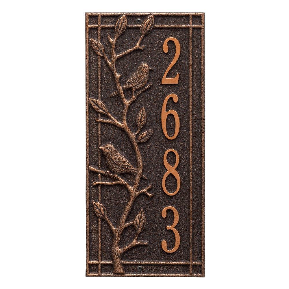 Customized Woodbridge Vertical Aluminum Address Plaque 16.5''H x 7.5''W