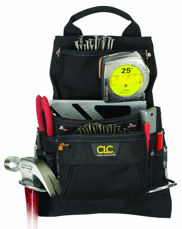 CLC Custom Leathercraft 5833 Ballistic Poly Nail And Tool Bag, 9 Pocket