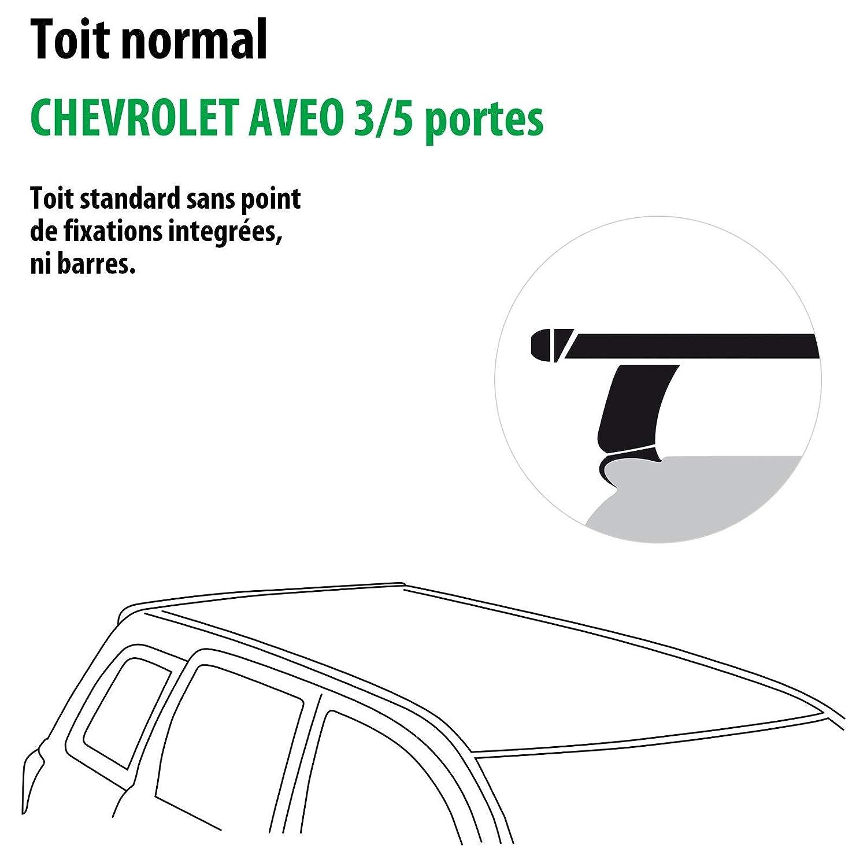 Kit completo Rameder, barras de techo tema para Chevrolet Aveo (3/5 puertas (118777 - 09591 - 3-fr): Amazon.es: Coche y moto