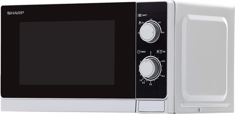 Sharp R-200(IN) W Microondas, Control Mecánico, Silver, 800 W, 20 ...
