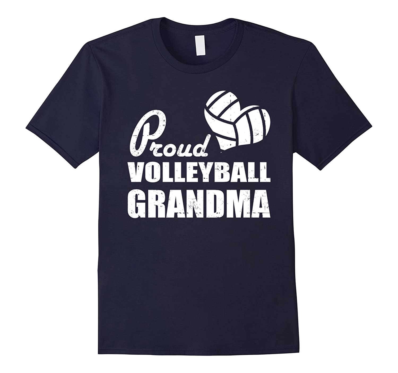 Proud Volleyball Grandma T-Shirt- Funny Grandma T-Shirt-TD