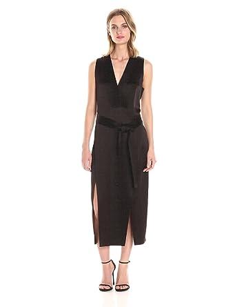 4d6c9d201a25ef Amazon.com  Halston Heritage Women s Sleeveless V Neck Satin Tunic ...