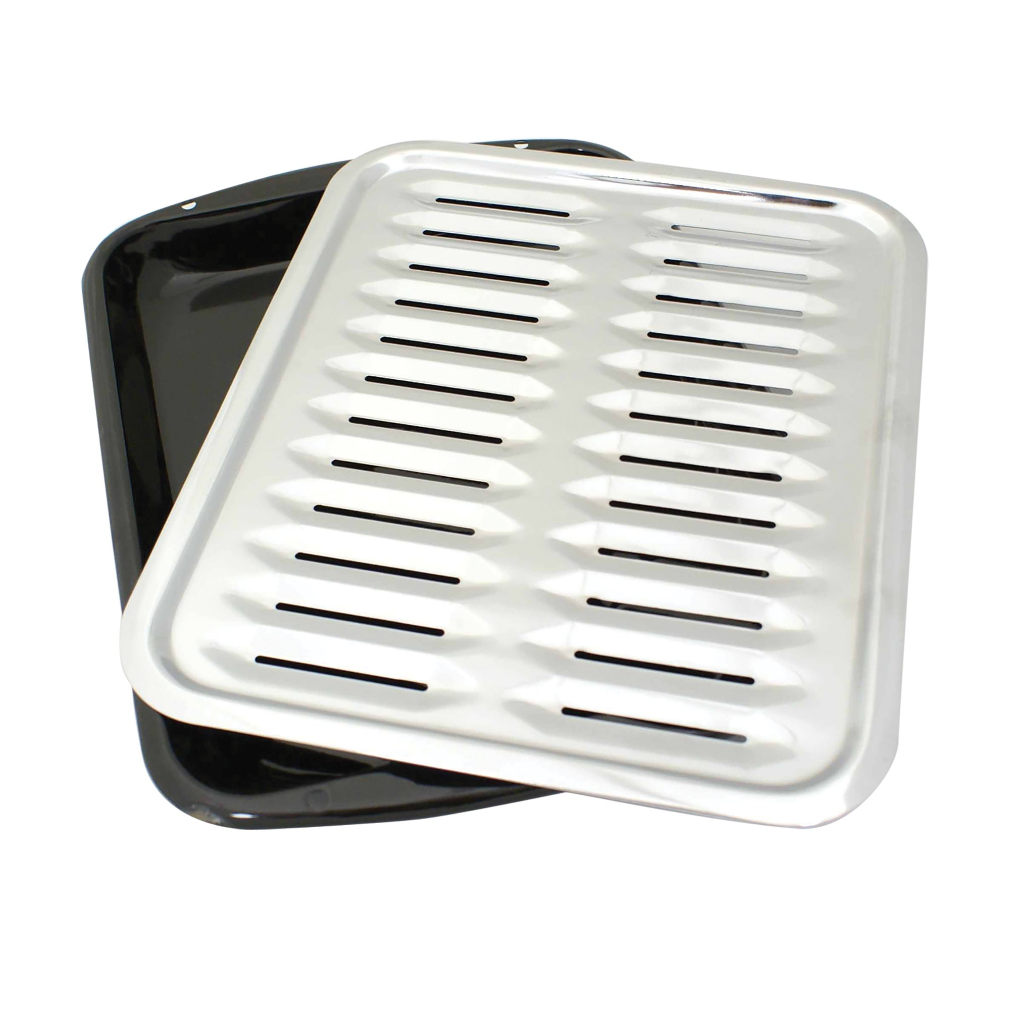 Range Kleen BP100 Porcelain Broiler Pan with Chrome Grill, 2-piece by Range Kleen