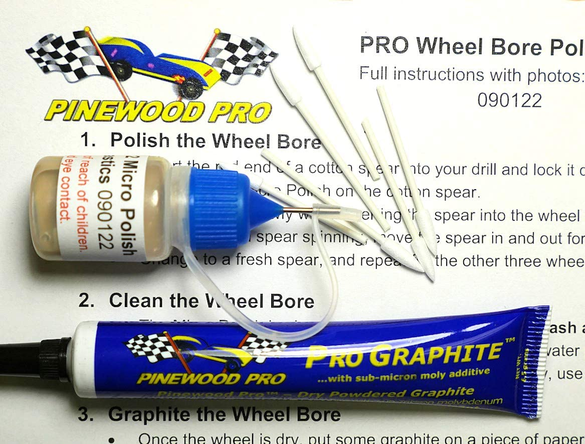 Green Derby Car Kit with PRO Graphite by Pinewood Pro