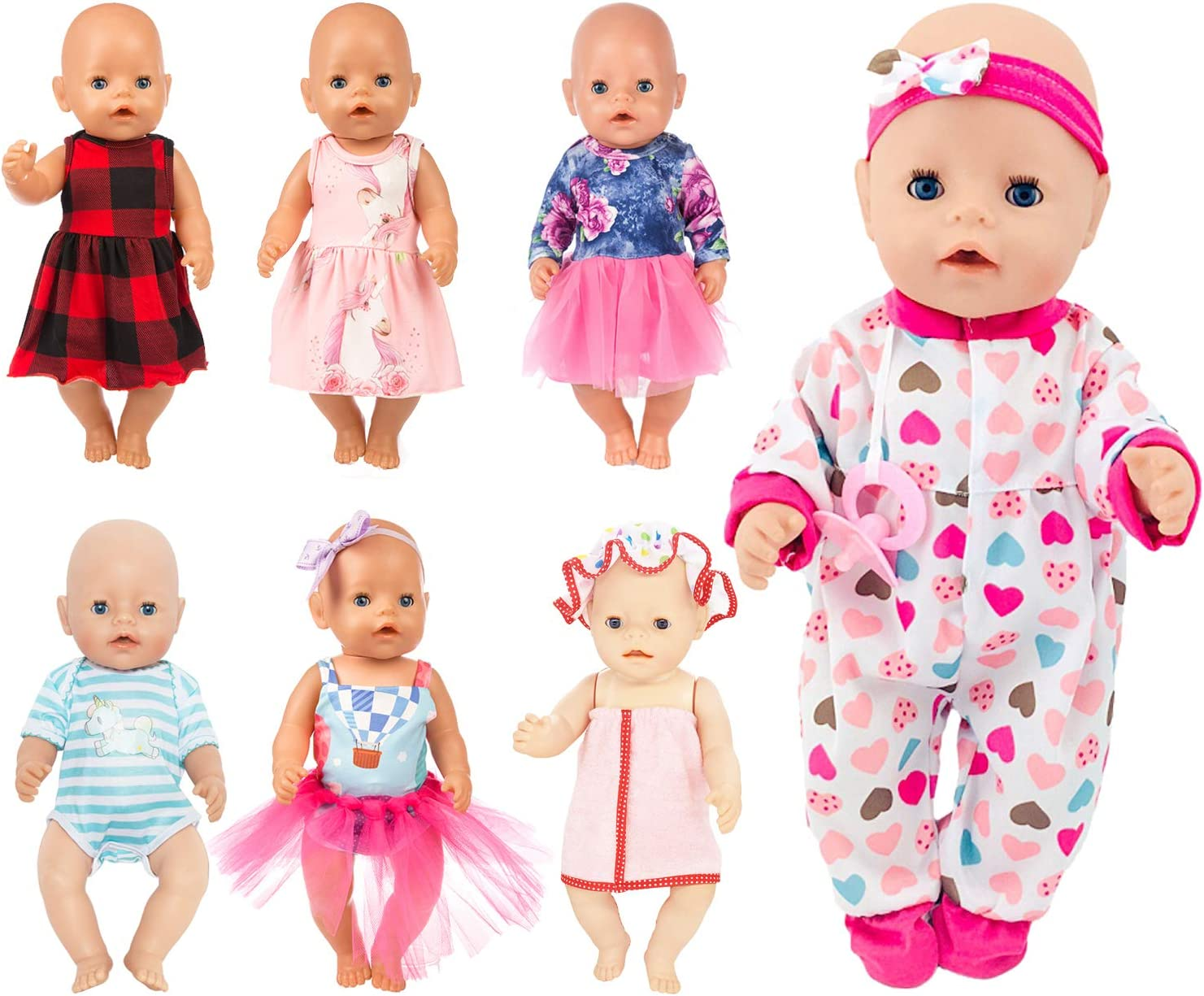 Fit For 18/'/' American Girl Blue Bottle Limited Doll Accessories Bitty Baby