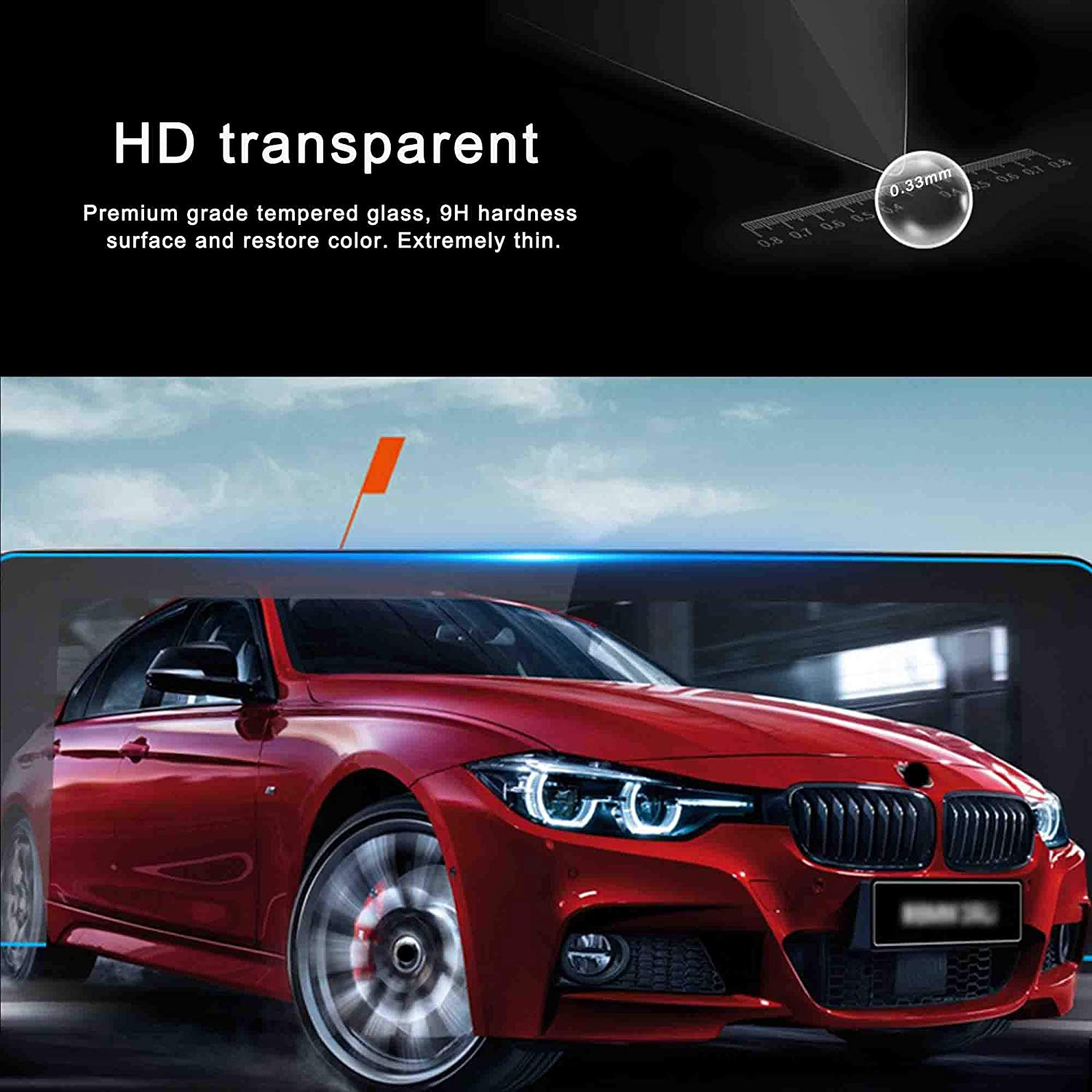 HD Clear Screen Protector for 2013-2018 BMW 3 Series Tempered Glass Against Scratch 1PCS WINKA Navigation Screen Protector Compatible with F30 F31 F32 F33 F34 F36