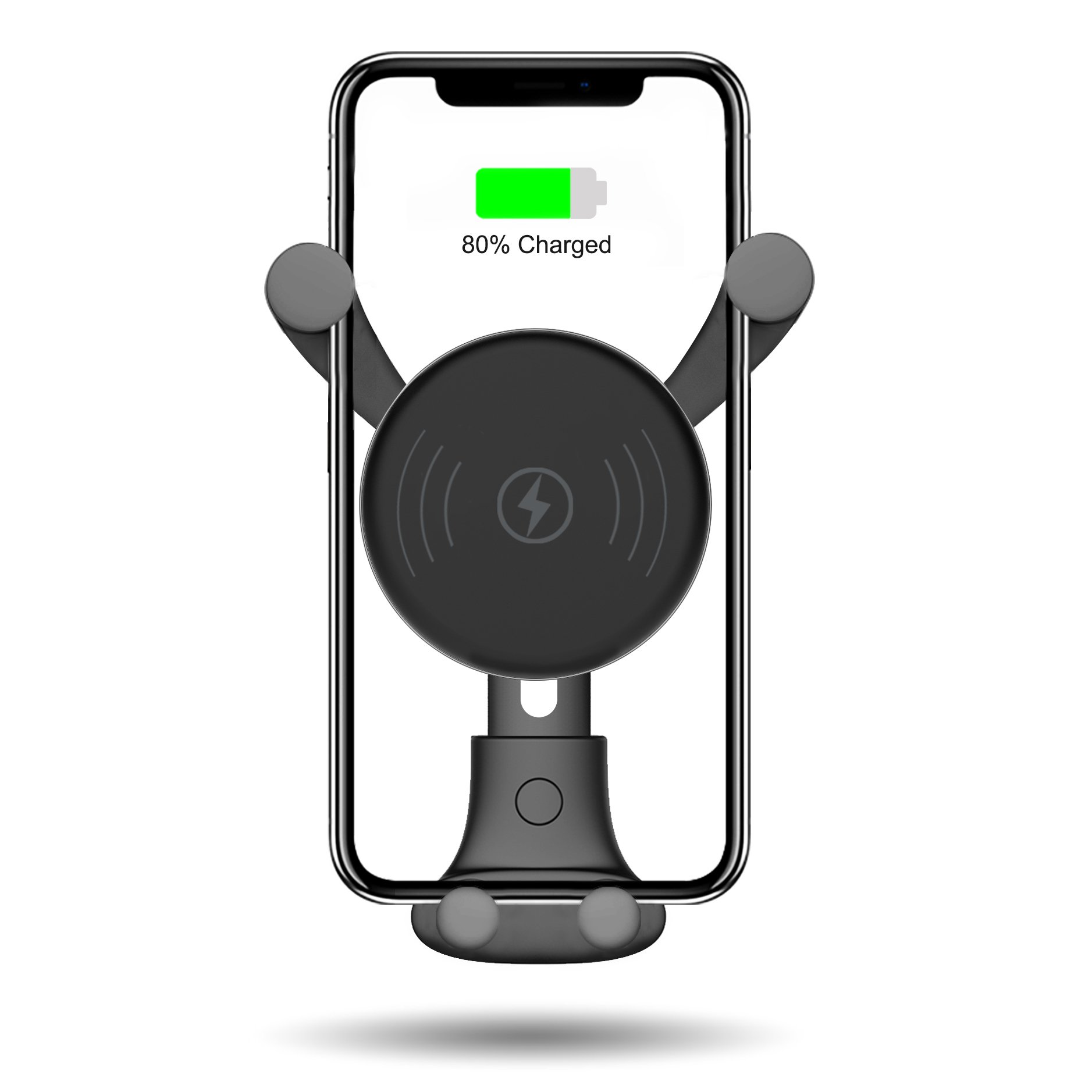 10W Wireless Car Charger, Wireless Fast Car Mount, Air Vent Phone Holder, Fast Charge for Samsung Galaxy S9, S9 plus, S8, S8 plus,note 8, note 5, Standard Charge for iPhone X, iPhone 8, iPhone 8 Plus