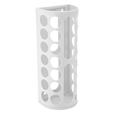 Protenrop Dispensador para reutilizar Bolsas de plástico, Color Blanco, Azul, AFS