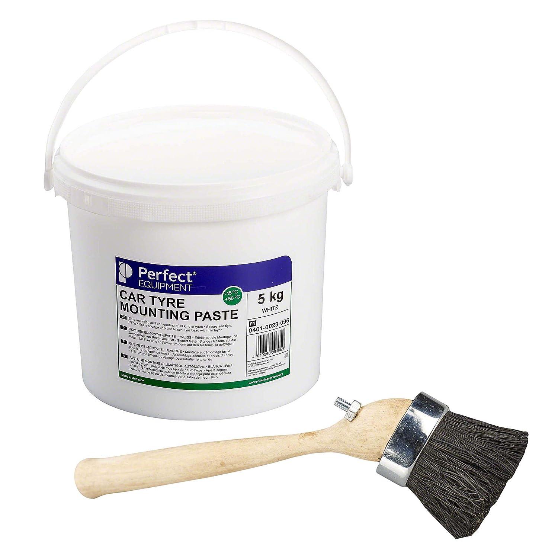 Cr/éme de montage pneu Cire p/âte de montage Pate de montage pneu 5kg blanc et pinceau de Perfect Equipment