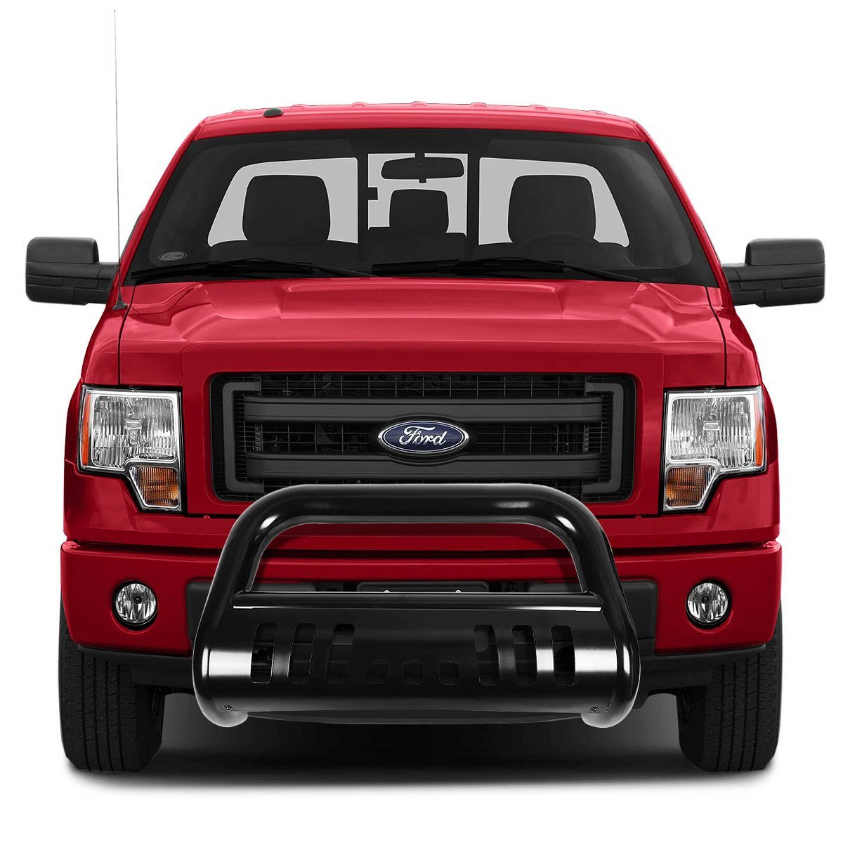 For 08-10 Ford F250SD F350SD F450SD BURB-013-BK DNA Motoring BURB013BK 3 Front Bumper Push Bull Bar