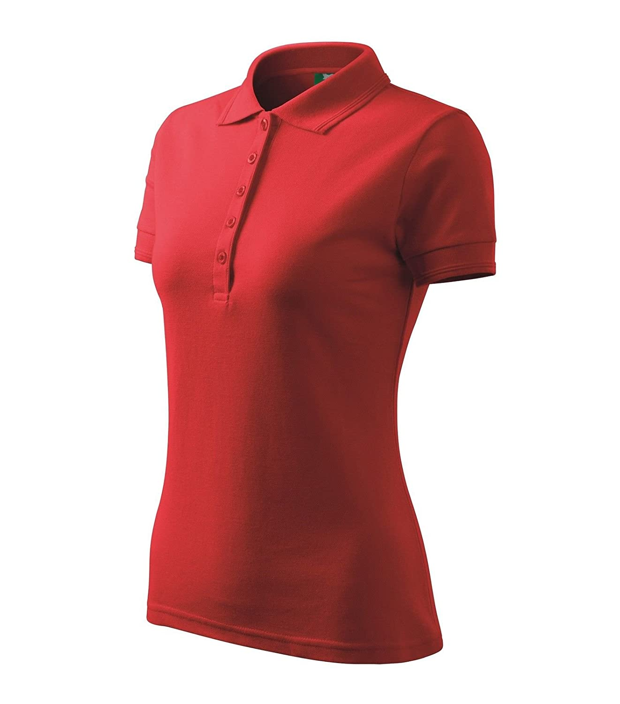 43d3f9d95ac824 reizend Polohemd Poloshirt für Damen Pique Polo 200 rot Größe wählbar