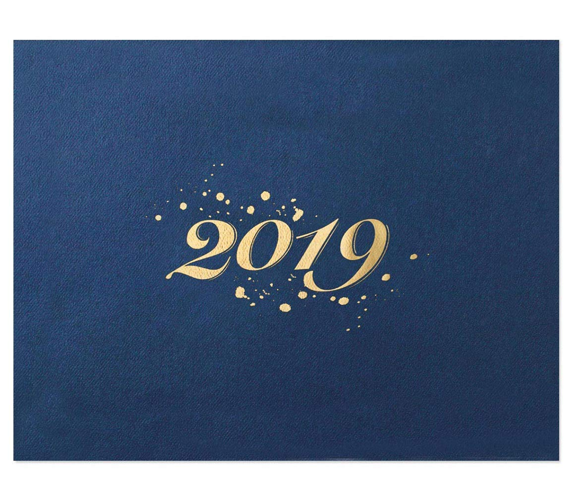 2019 Certificate Jackets, 9 Inches x 12 Inches Folded, Blue with Gold Foil, 50 Count by PaperDirect