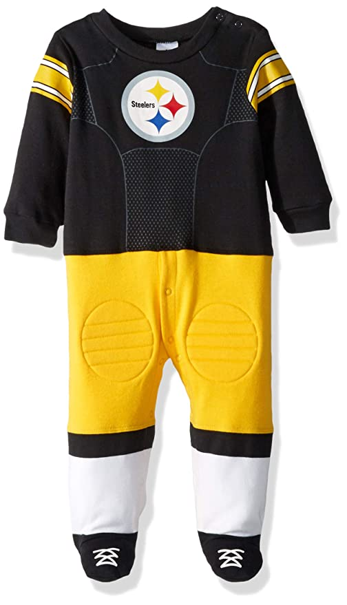 b723cdc47 Image Unavailable. Image not available for. Color  NFL Pittsburgh Steelers  Unisex-Baby Footysuit Coverall ...